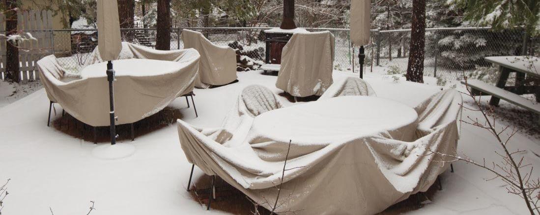 Как ухаживать за патио зимой