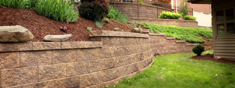 Подпорные стенки в ландшафтном дизайне.