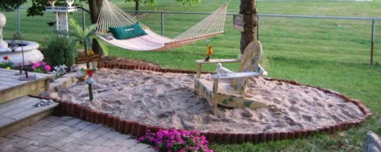 как сделать пляж в дворе